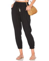 Seafolly - Washed Dobby Beach Pant In Black - Lyst