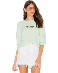 Wildfox - Be Happy Sommers Sweater In Green - Lyst