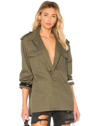 Harvey Faircloth - Racing Military Jacket In Olive - Lyst