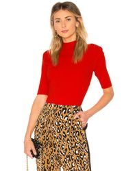 Diane von Furstenberg - Fine Gauge Mockneck Top In Red - Lyst