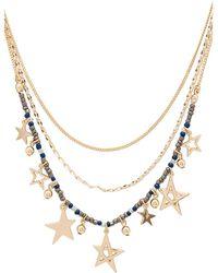 Rebecca Minkoff - Multi Star Delicate Necklace - Lyst
