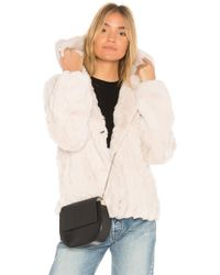 Heartloom - Yuko Dyed Rex Rabbit Fur Jacket - Lyst