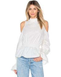 Tularosa - Sophia Blouse In White - Lyst