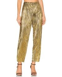 House of Harlow 1960 - X Revolve Kate Pants In Metallic Gold - Lyst