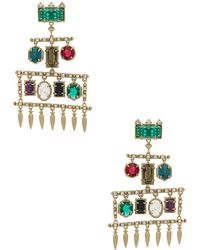 Kendra Scott - Emmylou Statement Earrings In Metallic Silver. - Lyst