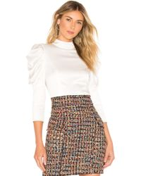 Alice + Olivia - Brenna Fitted Puff Sleeve Top - Lyst