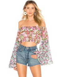 All Things Mochi - Lenny Crop Top In Pink - Lyst