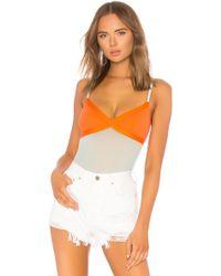 Cosabella - High Leg Bodysuit In Orange - Lyst