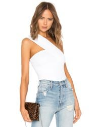 Autumn Cashmere - One Shoulder Tube Top In White - Lyst