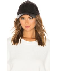 Michael Stars - Luxe Leather Cap In Black. - Lyst