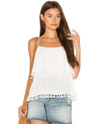 1.STATE - Spaghetti Strap Pop Over Top With Tassels - Lyst
