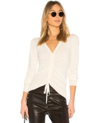 T By Alexander Wang - Ruched Merino Sweater - Lyst