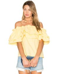 Edit | Double Ruffle Off Shoulder Top | Lyst