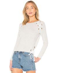 Generation Love - Kennedy Eyelets Sweatshirt In Grey - Lyst