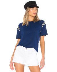 Pam & Gela - Football Stripe Short Sleeve Tee - Lyst