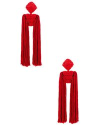 Sachin & Babi - Tassel Dupio Earrings In Red. - Lyst
