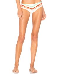 Paper London - Zigzag Bikini Top In White - Lyst