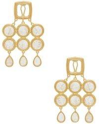 Luv Aj - The Quartz Chandelier Earrings In Metallic Gold. - Lyst