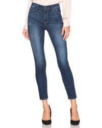 PAIGE - Hoxton High Rise Ankle Skinny - Lyst