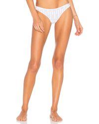 Ellejay - Diane Bikini Bottom In White - Lyst