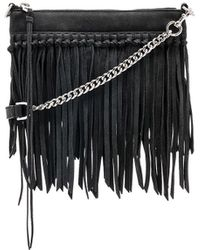 Rebecca Minkoff - Stevie Top Zip Crossbody Bag In Black. - Lyst