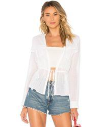 BCBGMAXAZRIA - Utility Shirt Jacket In White - Lyst