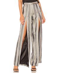 House of Harlow 1960 - X Revolve Evangelista Trouser In Gray - Lyst