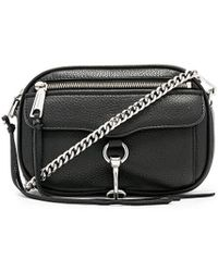 Rebecca Minkoff - Blythe Pebbled Crossbody Bag In Black. - Lyst