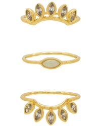 Gorjana - Rumi Burst Ring Set In Metallic Gold - Lyst