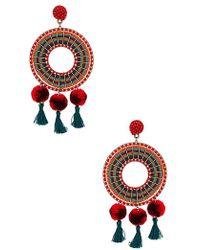 Nannacay - Rode Earrings In Red. - Lyst