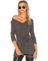 Lamade - Elliot Tunic Top In Charcoal - Lyst