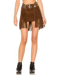 Urban Outfitters - X Revolve Paris Texas Studded Skirt In Brown - Lyst