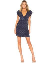Rails - Brenna Wrap Dress In Navy - Lyst