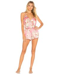 Flora Nikrooz - Charmeuse Romper In Pink - Lyst