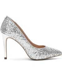 BCBGeneration - Heidi Heel In Metallic Silver - Lyst