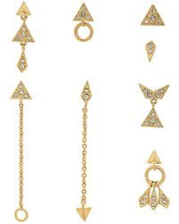 Luv Aj - The Pave Kite Mixed Earring Set - Lyst