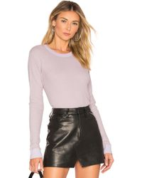 Monrow - Long Sleeve Thermal In Lavender - Lyst