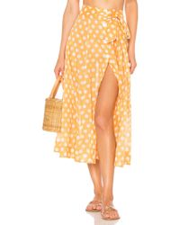 Lisa Marie Fernandez - Beach Skirt In Orange - Lyst