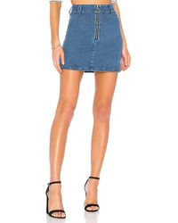 Finders Keepers - Slide Denim Skirt - Lyst
