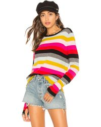 Pam & Gela - Multistripe Crew Neck Sweater In Pink - Lyst