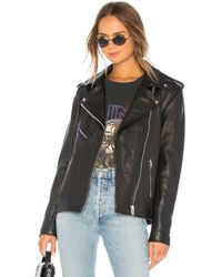 Urban Outfitters - Oversized Moto Jacket In Black - Lyst
