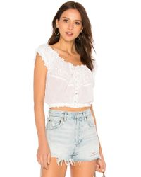 c0db746be1eff4 Free People - Eyelet You A Lot Top In White - Lyst