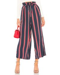MINKPINK - Nautica Cropped Pant In Navy - Lyst