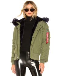 Alpha Industries - N-2b Impact Parka With Faux Fur Trim In Olive - Lyst