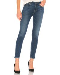 7 For All Mankind - The Hw Ankle Skinny - Lyst