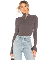 Lovers + Friends - Viola Rib Jumper In Charcoal - Lyst
