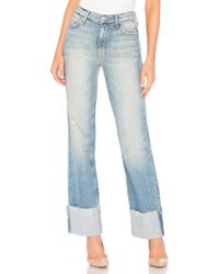 Mother - Jean Large Duster Cuff Fray - Lyst