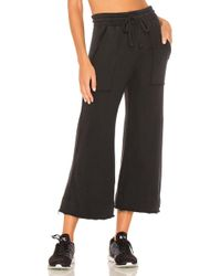 Year Of Ours - Wide Leg Sweatpant In Black - Lyst