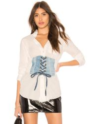NSF - Boyde Lace Up Top In White - Lyst
