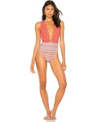 Nightcap - Perfect Plunge One Piece In Red - Lyst